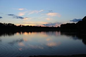 Photo taken at Sunset, at Cooper Creek Park, Columbus, Georgia.