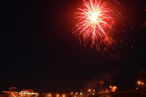 Fireworks Over the Bridge
